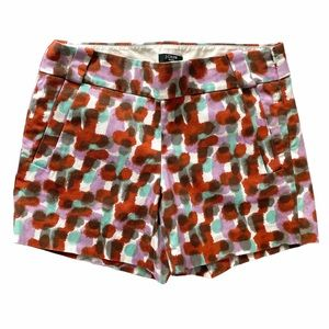 J. Crew Cotton Stretch Watercolor Pocket Shorts
